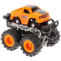 Инерционная машинка 4 WD, Big Motors, оранжевая