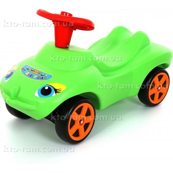 """Каталка """"Мій улюблений автомобіль"""" зелена зі звуковим сигналом"""