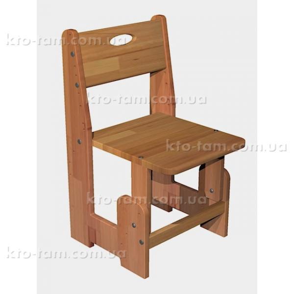 Детский деревянный стульчик, бук срощенный, ДомовичОК