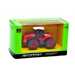 Трактор металлический , Автопром, красный